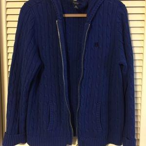 Chaps zip up sweater hoodie